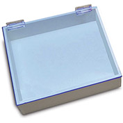 "TrippNT™ White PVC 9"" Pipette Box with Blue Lid, 10""W x 9""D x 3""H"