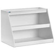 "TrippNT™ White PVC Angled Triple Safety Shelf Station, 24""W x 9""D x 16""H"