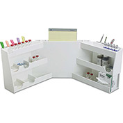 "TrippNT™ White PVC Wraparound Bench Top Workstation with 12 Compartments, 33""W x 12""D x 12""H"