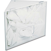 "TrippNT™ 50435 White PVC Corner Apparel Holder, 17""W x 12""D x 10""H"