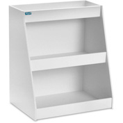 "TrippNT™ White PVC Angled Triple Safety Shelf Station, 12""W x 9""D x 14""H"