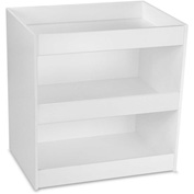 "TrippNT™ White PVC Straight Triple Safety Shelf Station, 12""W x 9""D x 12""H"
