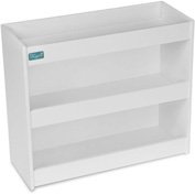 "TrippNT™ White PVC Straight Triple Safety Shelf Station, 12""W x 5""D x 10""H"