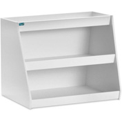 "TrippNT™ White PVC Angled Triple Safety Shelf Station, 24""W x 4""D x 16""H"