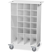 "TrippNT™ 50741 White ABS Pipette Angled Bin Cart, 22""W x 15""D x 33""H"