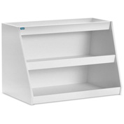 "TrippNT™ White PVC Angled Triple Safety Shelf Station, 24""W x 11""D x 20""H"