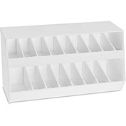 "TrippNT™ 50836 Adjustable Storage Bin, 21""W x 9""D x 12""H, White"