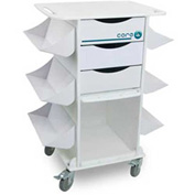 TrippNT™ 51018 White Core CL Hospital Medical Lab Cart with Clear PETG Door