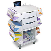 "TrippNT™ 51027 White Polyethylene Core CL Suture Procedure Cart, 27""W x 19""D x 36""H"