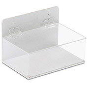"TrippNT™ 51042 Small Lab Supply Box with Lid, 9""W x 6""D x 6""H, White/Clear"