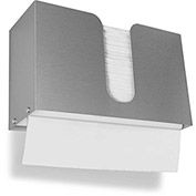 TrippNT Dual Dispensing Stack Paper Towel Holder, Stainless Steel - 51283