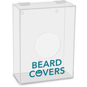"TrippNT™ Beard Covers Labeled Small Apparel Dispenser, 9""W x 4""D x 12""H, Clear"