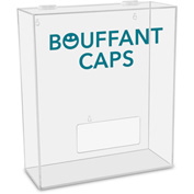 "TrippNT™ Bouffant Caps Labeled Medium Apparel Dispenser, 15""W x 6""D x 18""H, Clear"