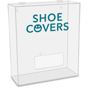 "TrippNT™ Shoe Covers Labeled Medium Apparel Dispenser, 15""W x 6""D x 18""H, Clear"