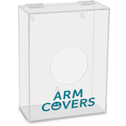 "TrippNT™ Arm Covers Labeled Small Apparel Dispenser, 9""W x 4""D x 12""H, Clear"