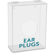 "TrippNT™ Ear Plugs Labeled Small Apparel Dispenser, 9""W x 4""D x 12""H, Clear"