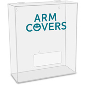 "TrippNT™ Arm Covers Labeled Medium Apparel Dispenser, 15""W x 6""D x 18""H, Clear"
