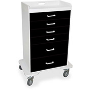 "TrippNT™ 51358 Locking 6 Drawer Procedure Cart, Black, 31""W x 20""D x 48""H"