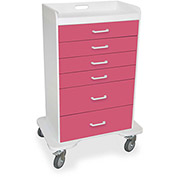 "TrippNT™ 51359 Locking 6 Drawer Procedure Cart, Watermelon Pink, 31""W x 20""D x 48""H"