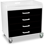 "TrippNT™ 51362 Extra Wide Compact 4 Drawer Locking Cart, Black, 27""W x 19""D x 27""H"