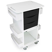 """TrippNT™ Deluxe Medical Cart with Clear Sliding Door, Black, 23""""W x 19""""D x 35""""H"""