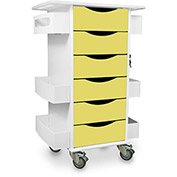 "TrippNT™ Core Locking 6 Drawer Lab Cart, 23""W x 19""D x 35""H,Bright Idea Yellow"