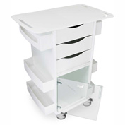 """TrippNT™ Core DX Lab Cart with Extended 29"""" Top and Clear Hinged Door, 29""""W x 19""""D x 35""""H"""