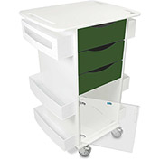 """TrippNT™ Deluxe Medical Cart with Clear Hinged Door, Hosta Leaf Green, 23""""W x 19""""D x 35""""H"""