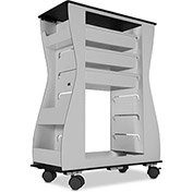 "TrippNT™ Hourglass 2-Sided Aluminum Polyethylene Light Duty Cart, 24""W x 11""D x 32""H, Black"