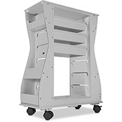 "TrippNT™ Hourglass 2-Sided Aluminum Polyethylene Light Duty Cart, 24""W x 11""D x 32""H, White"