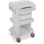 "TrippNT™ 51504 Element 05 Advanced Tall All Purpose Medical Cart, 27""W x 21""D x 44""H, White"