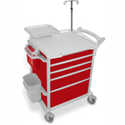 "TrippNT™ 51622 Element 09 Emergency Crash Cart, 31""W x 24""D x 42""H, Red"