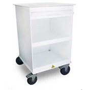 "TrippNT™ MRI Maui Lab Island with 5"" Casters, 24""W x 24""D x 47""H, White"