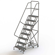 8 Step Steel Easy Turn Rolling Ladder, Serrated Tread, Safety Angle - KDAD108242