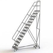 14 Step Steel Easy Turn Rolling Ladder, Serrated Tread, Safety Angle - KDAD114246