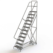 12 Step Steel Easy Turn Rolling Ladder, Serrated Tread, Standard Angle - KDED112242