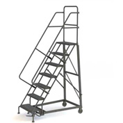 7 Step Grip Strut 600 Lb. Cap. Heavy Duty Steel Rolling Ladder - KDHD107242