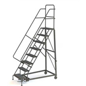 8 Step Perforated Strut 600 Lb. Cap. Heavy Duty Steel Rolling Ladder - KDHD108246