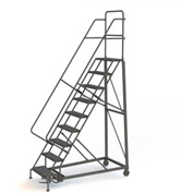 9 Step Grip Strut 600 Lb. Cap. Heavy Duty Steel Rolling Ladder - KDHD109242