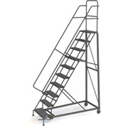 10 Step Grip Strut 600 Lb. Cap. Heavy Duty Steel Rolling Ladder - KDHD110242
