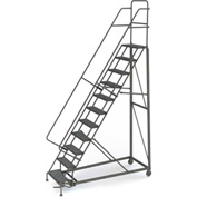 11 Step Grip Strut 600 Lb. Cap. Heavy Duty Steel Rolling Ladder - KDHD111242