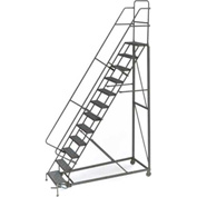 12 Step Grip Strut 600 Lb. Cap. Heavy Duty Steel Rolling Ladder - KDHD112242