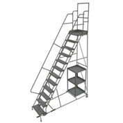 12 Step Steel Stock Picking Ladder - Perforated Tread