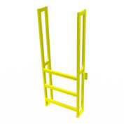 "U-Design Max-Access Aluminum Work Platforms - 3 Step 30""H 90 Deg. Stair Unit - UAP0390"