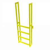 "U-Design Max-Access Aluminum Work Platforms - 4 Step 40""H 90 Deg. Stair Unit - UAP0490"