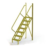 "7 Step 50° Incline Ladder - 24""W Perforated"