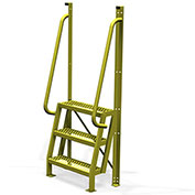 """3 Step 75° Incline Ladder, 24""""W Perforated Tread - UCL7503242"""