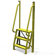 """3 Step 75° Incline Ladder, 24""""W Perforated Tread - UCL7503246"""