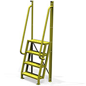 """4 Step 75° Incline Ladder, 24""""W Perforated Tread - UCL7504246"""