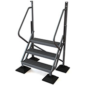 U-Design Rooftop Platforms - 3-Step 50 Degree Incline Ladder - URTL503
